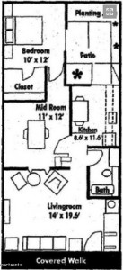Two bedroom floorplan